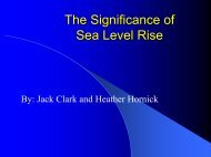 The Importance of Sea Level Rise - LFIP