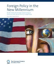 Foreign Policy in the New Millennium - Chicago Council on Global ...