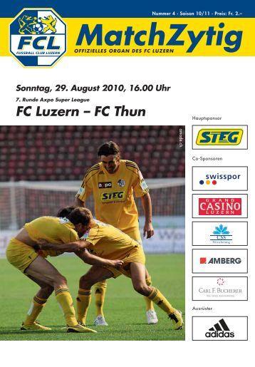 MatchZytig Ausgabe N° 4 - FC Luzern