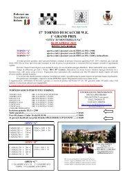 17° TORNEO DI SCACCHI W.E. 1° GRAND PRIX - VeSuS!!!