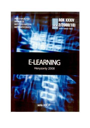 E-learning 2008 - Instytut Maszyn Matematycznych
