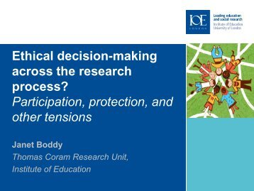 Ethical decision-making across the research process? Participation ...