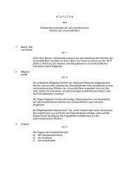 Statuten (pdf, 22KB) - zahnmedizinische kliniken zmk bern ...