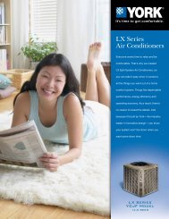 York LX Series YCJF 14.5 SEER Air Conditioners from ... - UPGNet