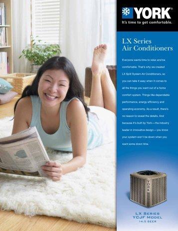 york lx series air conditioner. york lx series ycjf 14.5 seer air conditioners from - upgnet lx conditioner