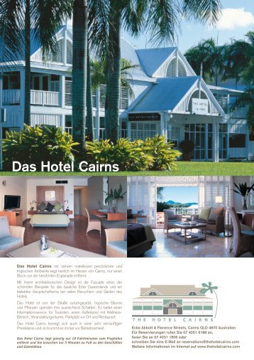 Das Hotel Cairns - The Hotel Cairns