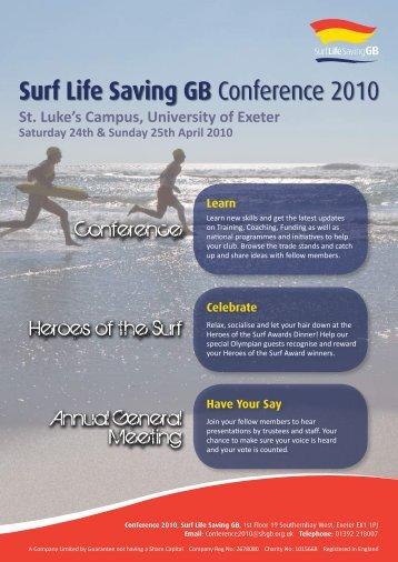 Surf Life Saving GB Conference 2010