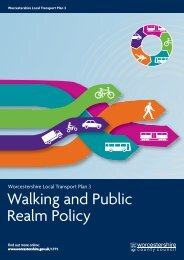 Walking and Public Realm Policy - Worcestershire County Council