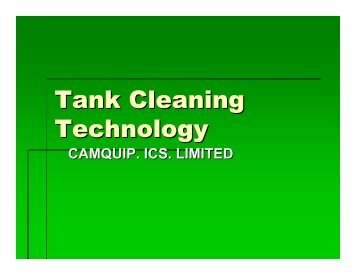 Tank Cleaning Technology - CamQuip