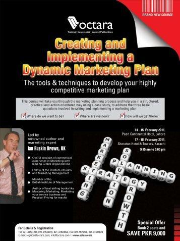 Creating & Implementing A Dynamic Marketing Plan - Octara.com