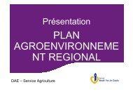 Présentation du Plan Agro-Environnement du Conseil Régional