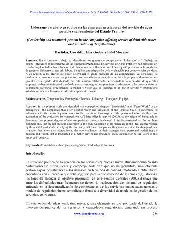 liderazgo y trabajo en equipo en las empresas ... - Spentamexico.org