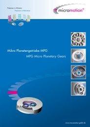 Mikro Planetengetriebe MPG MPG Micro Planetary Gears