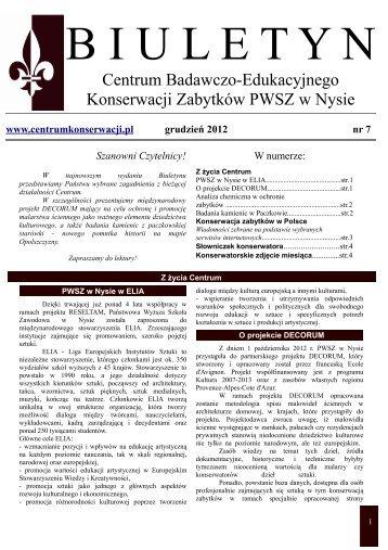 Biuletyn nr 7.pdf - Państwowa Wyższa Szkoła Zawodowa w Nysie