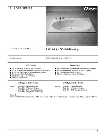 BUILDER SERIES - Oasis Bath