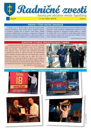 RaZv č.IV-október 2009 - Mesto Topoľčany