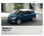 Prijslijst SKODA Fabia per 01-01-2011.pdf - Fleetwise