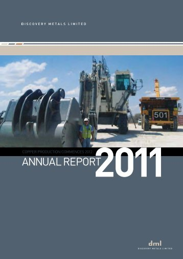 2011 Annual Report - Discovery Metals Limited