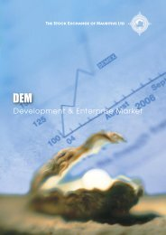 Development & Enterprise Market - The Stock Exchange of Mauritius