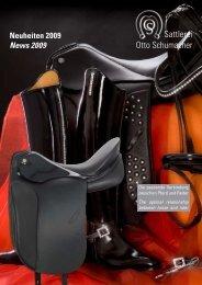 Neuheiten 2009 - Sattlerei Otto Schumacher