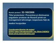 Prevenirea si diminuarea pagubelor produse de ... - Prezentare