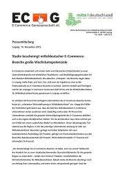 Studie bescheinigt mitteldeutscher E-Commerce- Branche große ...