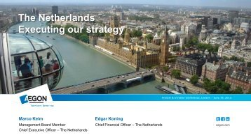 Aegon the Netherlands: Executing our strategy