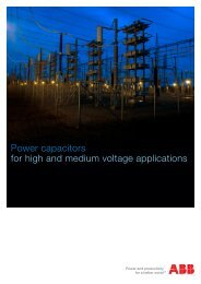 Power capacitors for high and medium voltage ... - Tdproducts.com