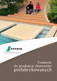 Ulotka Cementy do produkcji elementów prefabrykowanych - Lafarge