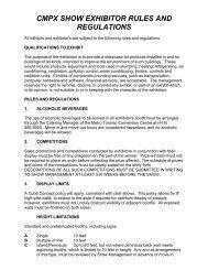Exhibitor Rules & Regulations