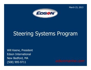Steering Systems Program - Edson Marine