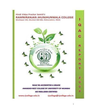 2008-2009 - ramniranjan jhunjhunwala college