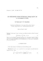 ON WEIGHTED NORM INTEGRAL INEQUALITY ... - Kjm.pmf.kg.ac.rs
