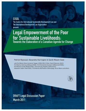 Legal Empowerment of the Poor for Sustainable Livelihoods: - IDLO