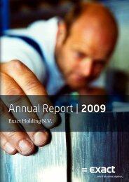 Annual Report | 2009 - Exact
