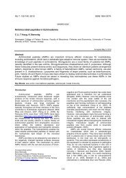Antimicrobial Peptides in Echinoderms - Invertebrate Survival Journal