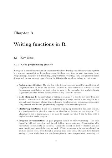 Writing functions in R - LSE Statistics