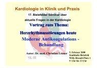 Moderne Antikoagulations - Behandlung - theHeart.de