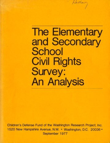 The Elementary and Secondary School Civil Rights Survey: An ...