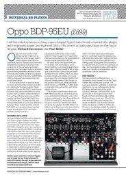 Oppo BDP-95EU (£899) - Oppo Blu-ray
