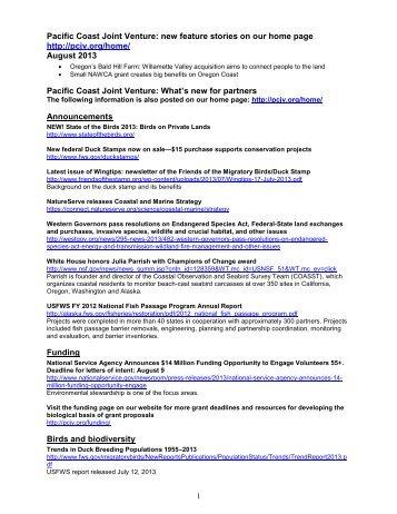Print Version - Pacific Coast Joint Venture