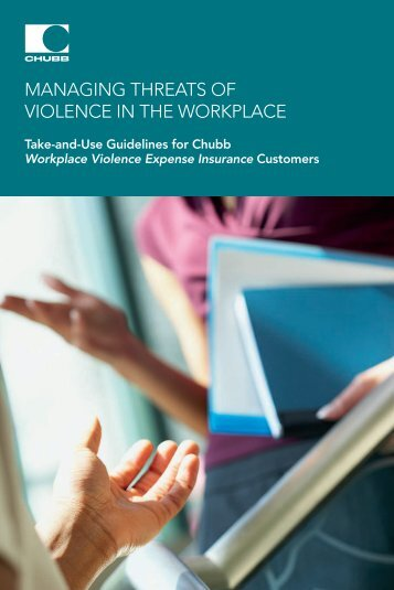 managing threats of violence in the workplace - Chubb Group of ...