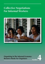 Collective Negotiations For Informal Workers - WIEGO