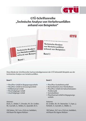 """GTÜ-Schriftenreihe """"Technische Analyse von Verkehrsunfällen ..."""