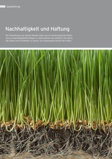 Nachhaltigkeit und Haftung - Rudolf X. Ruter