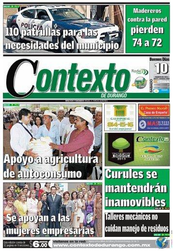 10/08/2013 - Contexto de Durango