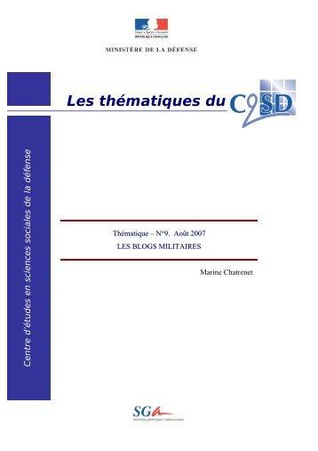 Les thématiques du Centre d'études en sciences ... - Theatrum Belli