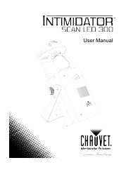 Chauvet Intimidator Scan LED 300 Manual - American Musical Supply