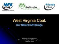 West Virginia Coal - West Virginia Department of Commerce