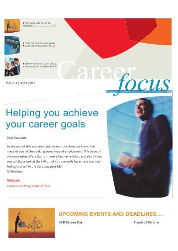 Helping you achieve your career goals
